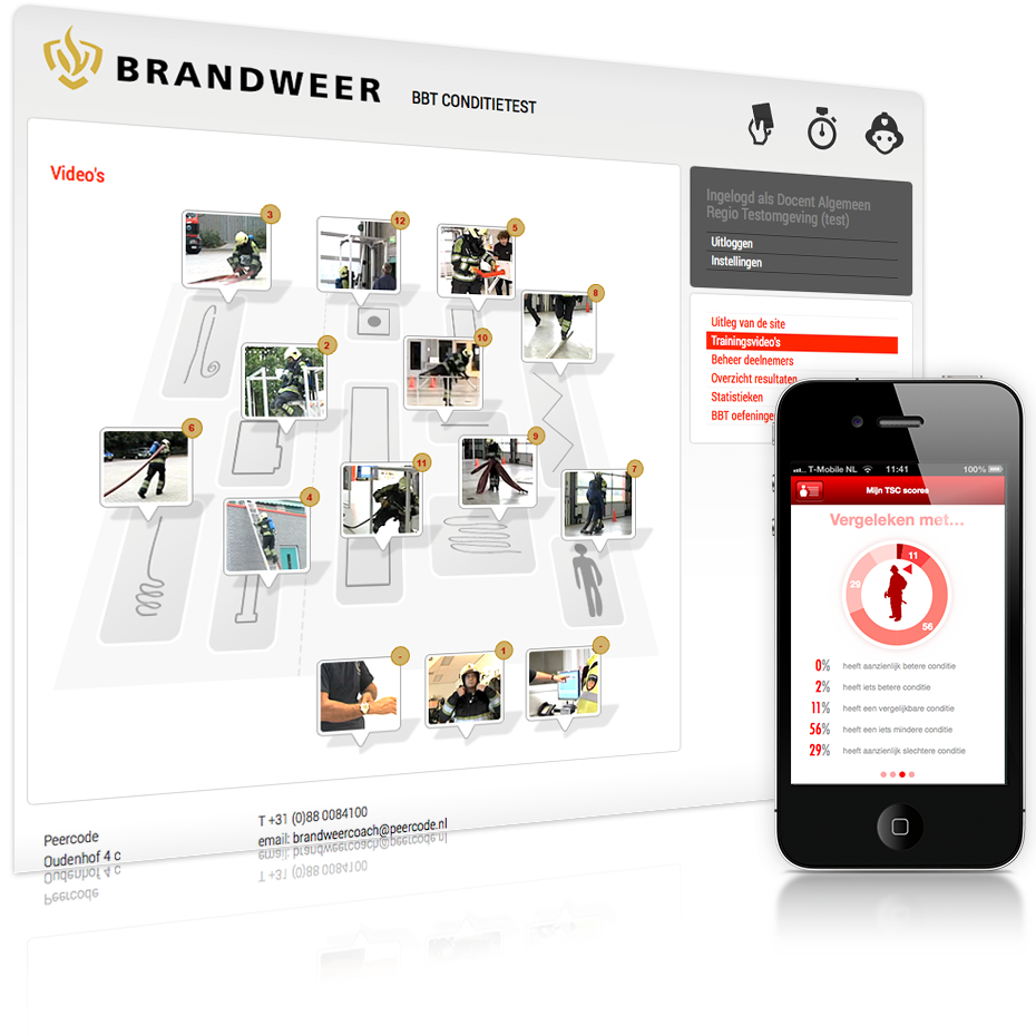Brandweer website screenshot